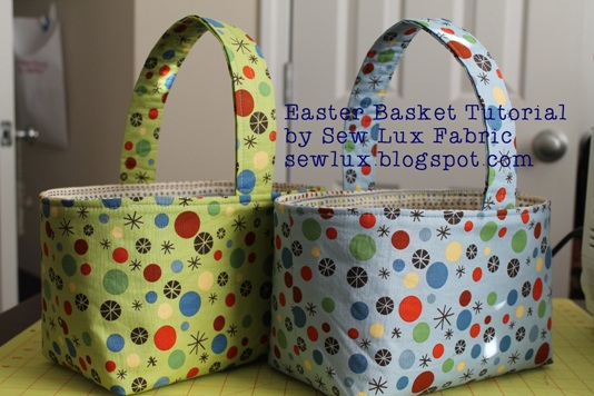 Sew Lux Fabric : Blog: Easter Basket Tutorial : quilted basket pattern - Adamdwight.com