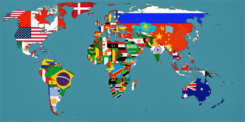 40 Maps That Will Help You Make Sense of the World - Flag Map of the World