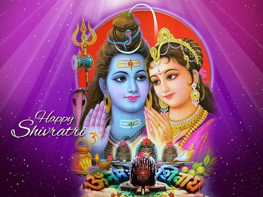 Happy Mahashivratri Shankar and Parvti Wishes Wallpapers