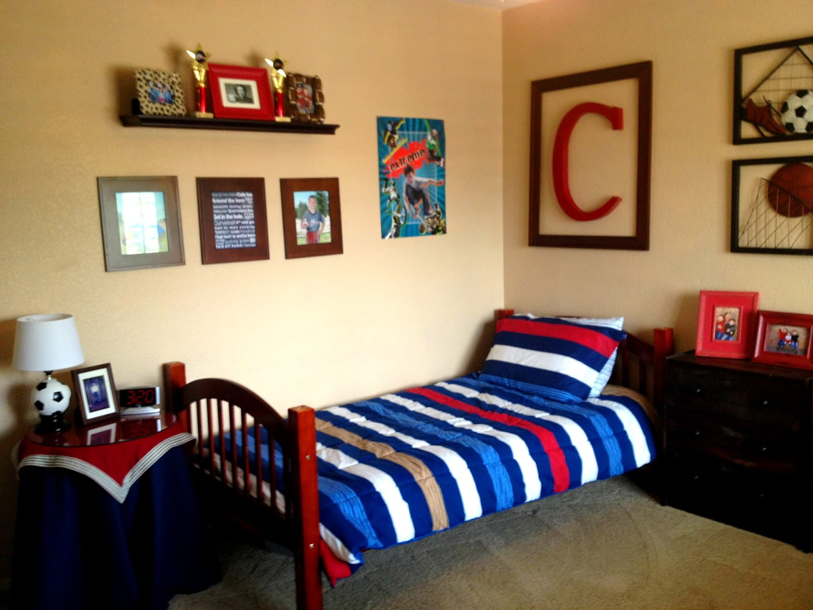 Boys Sports Bedroom Decor PierPointSprings
