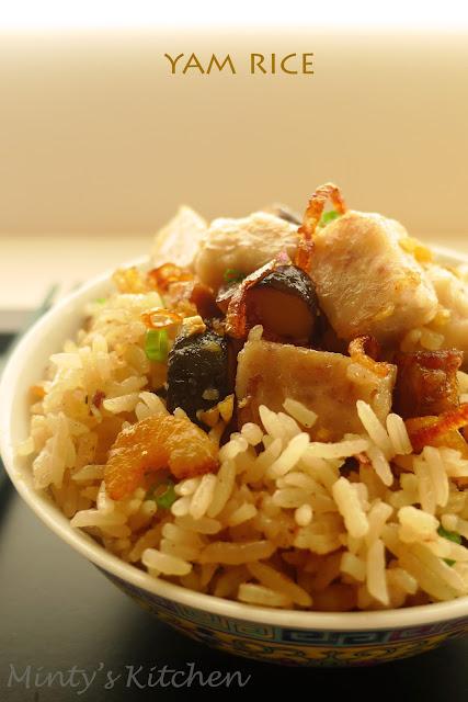 Minty's Kitchen: Yam Rice (芋头饭)