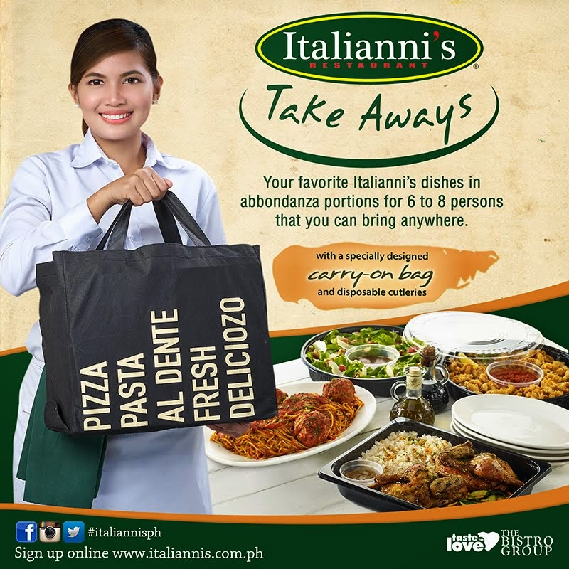 ITALIANNI'S TAKE AWAYS