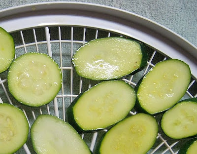 marinaded zucchini slices