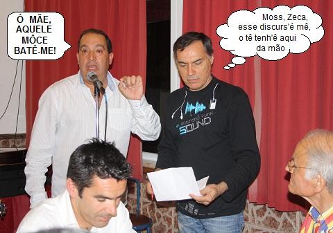 O candidato à concelhia PS Olhão Custódio Moreno com o apoiante Domingos Caetano