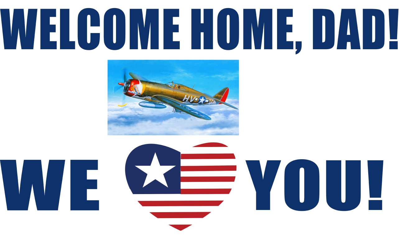banners com  welcome home dad banner