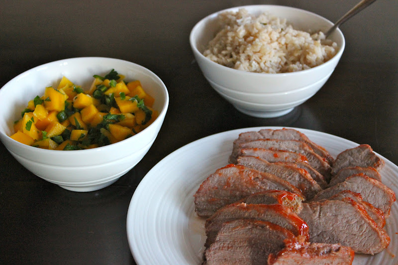 Naked Cupcakes: Sweet and Spicy Pork Tenderloin with Mango ...