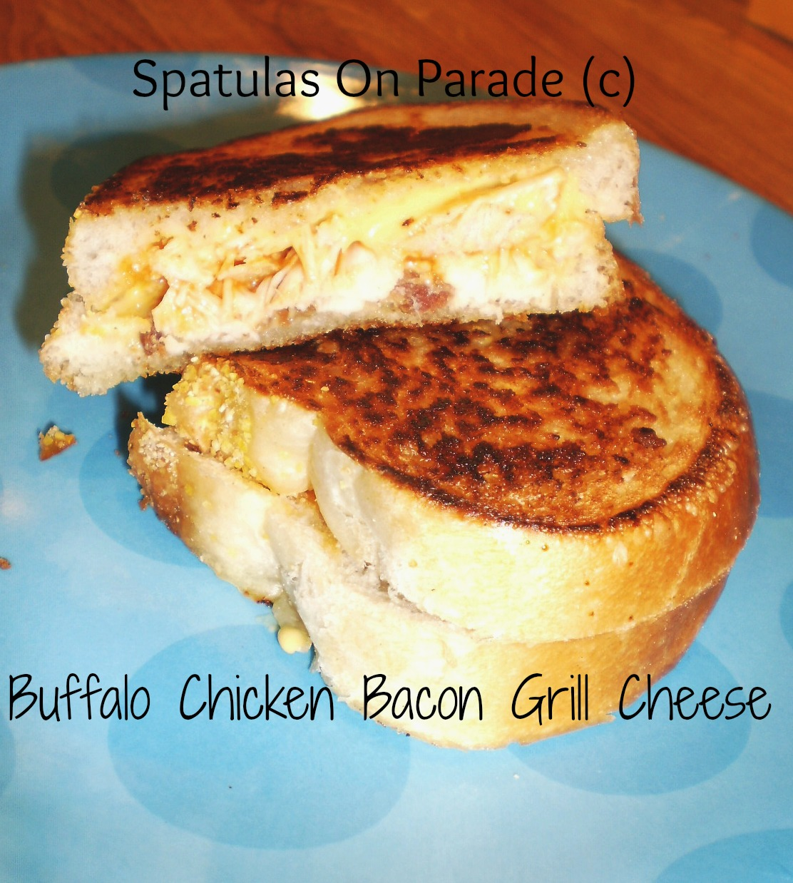 Buffalo Chicken Grilled Cheese Sandwich Recipe — Dishmaps