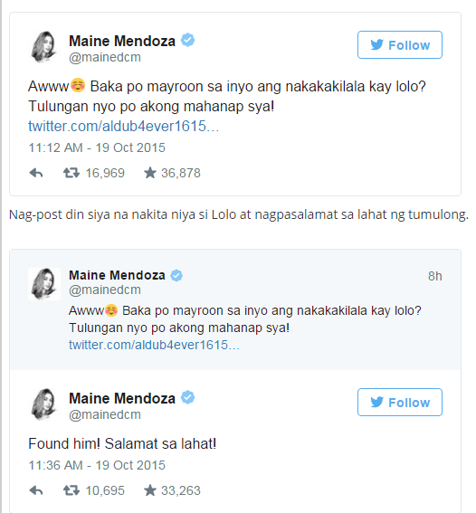 Maine Mendoza was touched by the story of an old man
