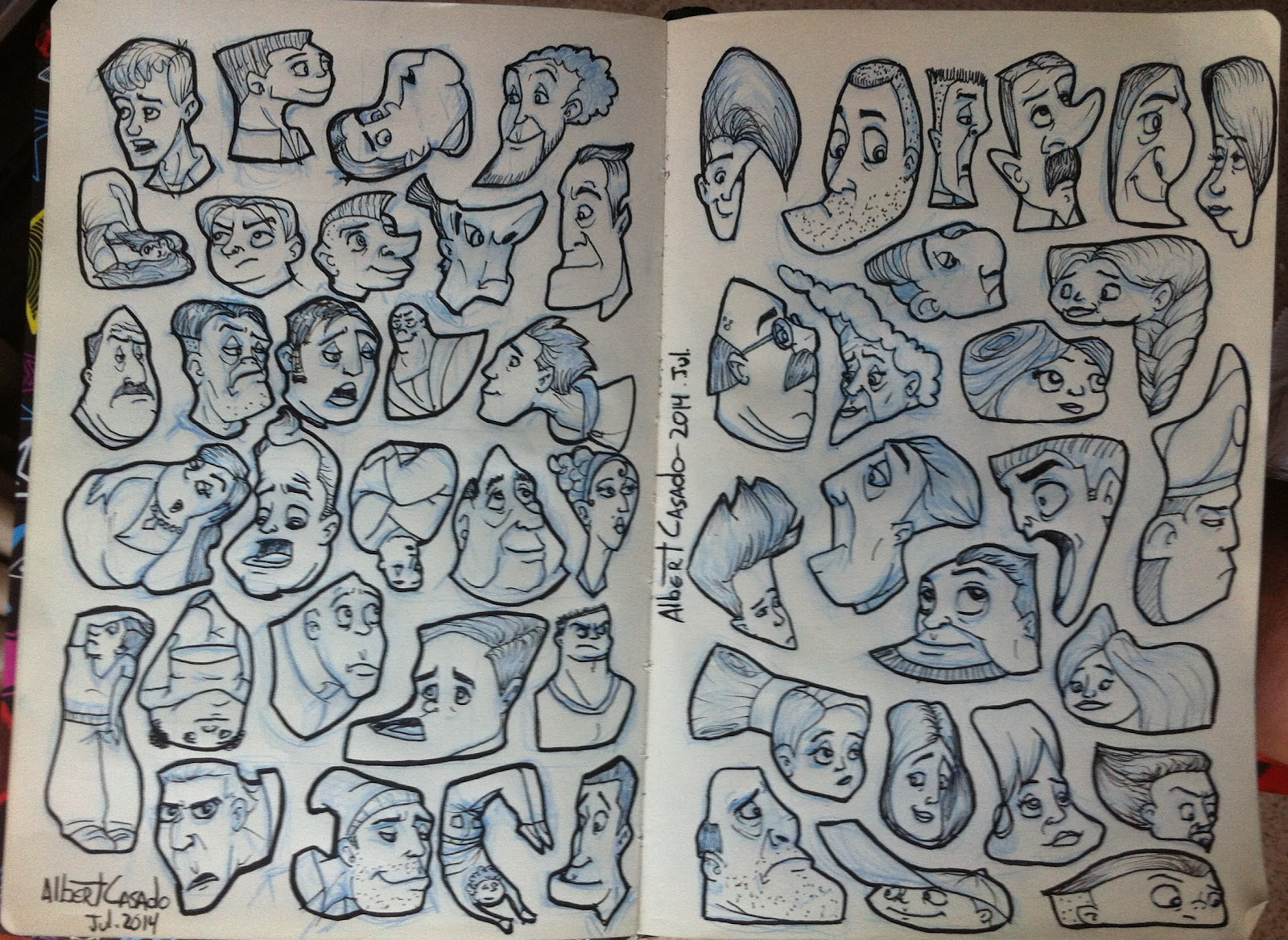"""Random shaped faces"" - Albert Casado - nfok-e"