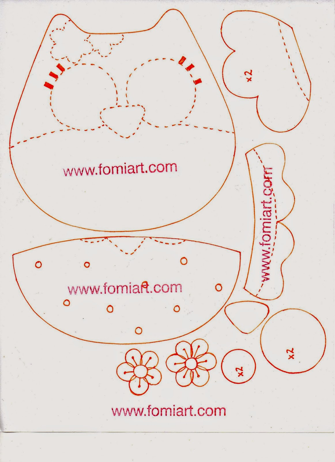 Tutorial bolsita de buho para regalo en fomi y patrones - Patrones de cabezas de animales de tela ...