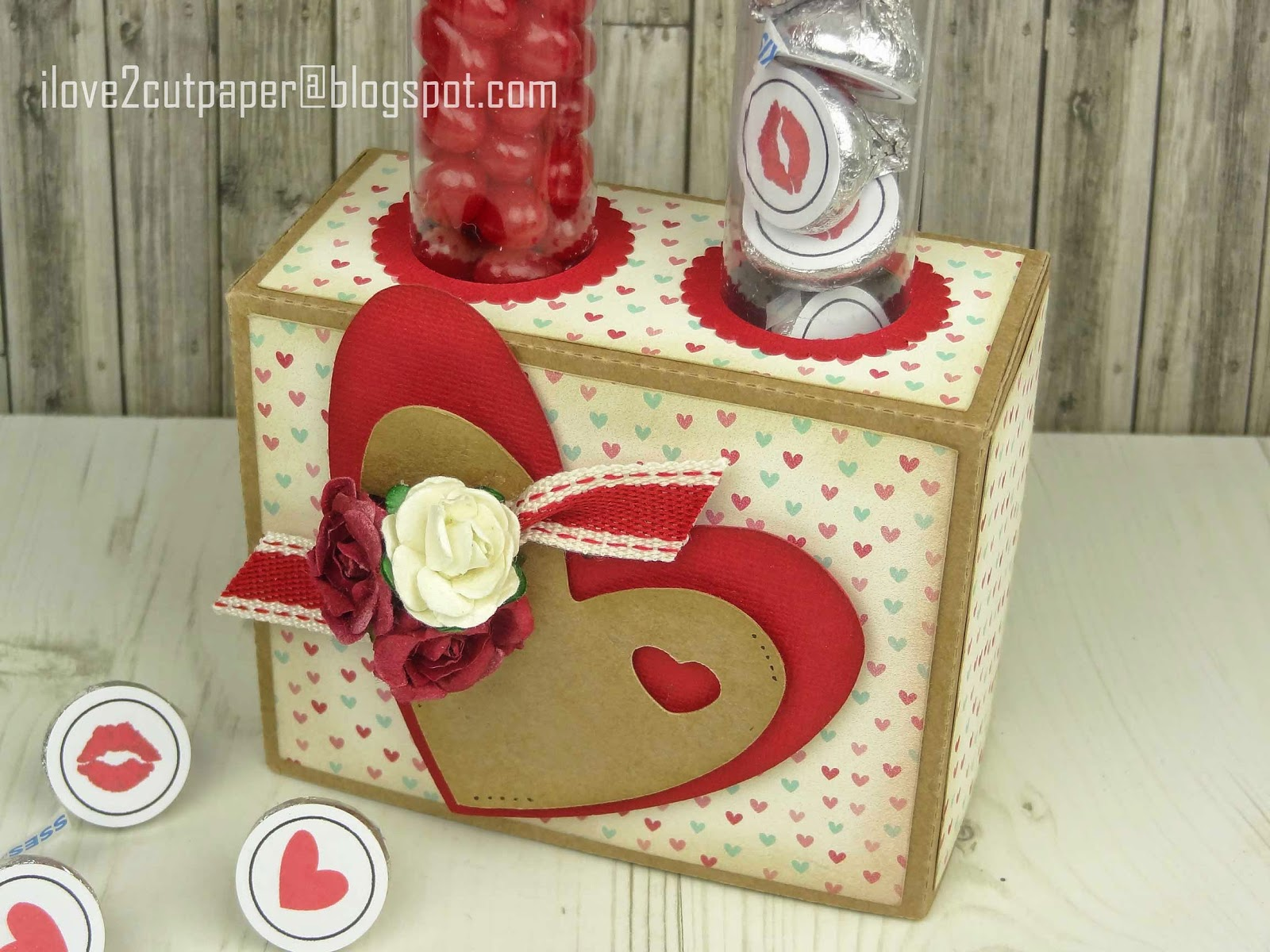 Valentine Candy Tube Box