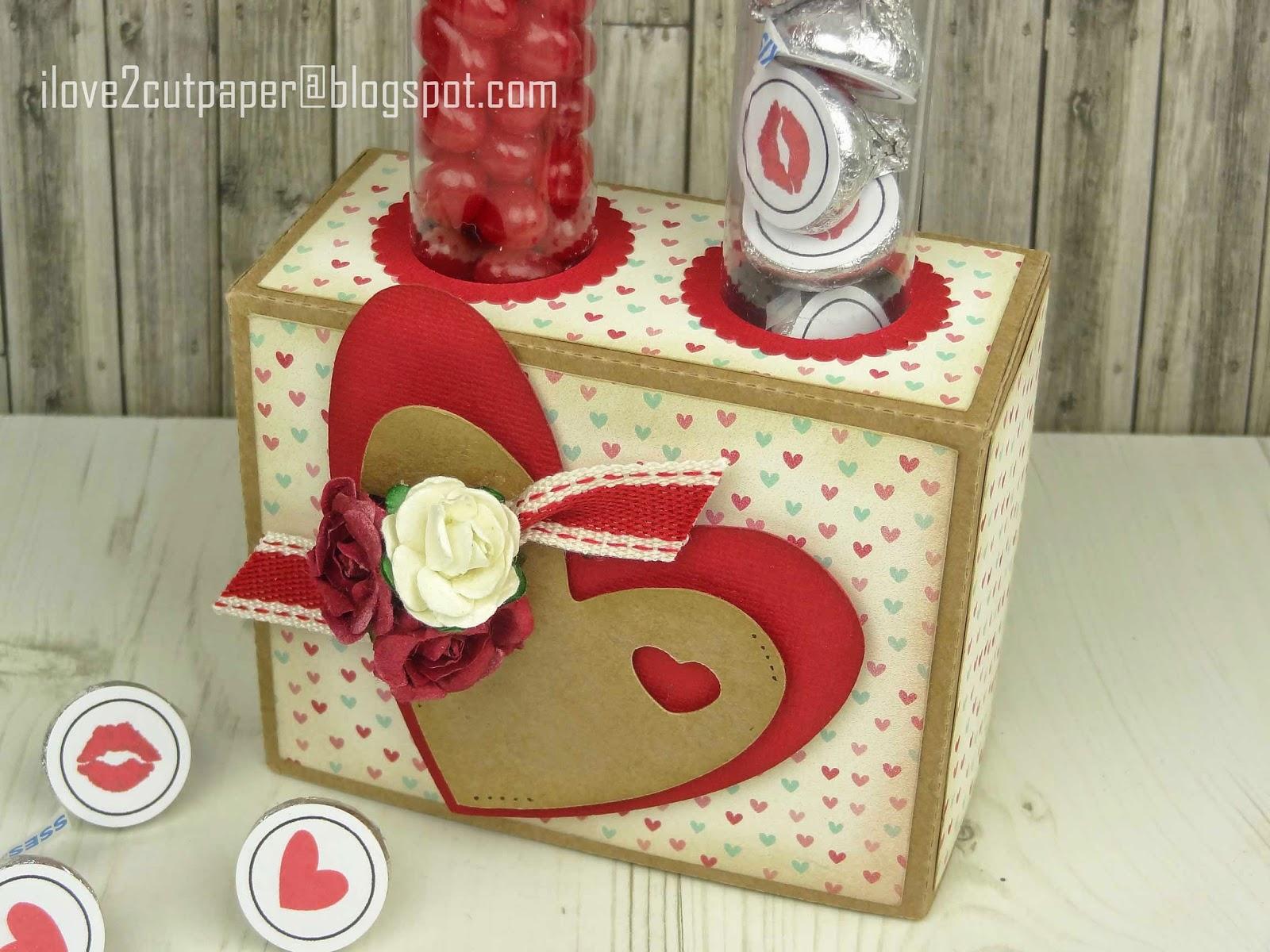 Valentine Candy Tube Box