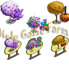 Farmville caramel apple i 5 farm cash farmville confetti tree 5 farm
