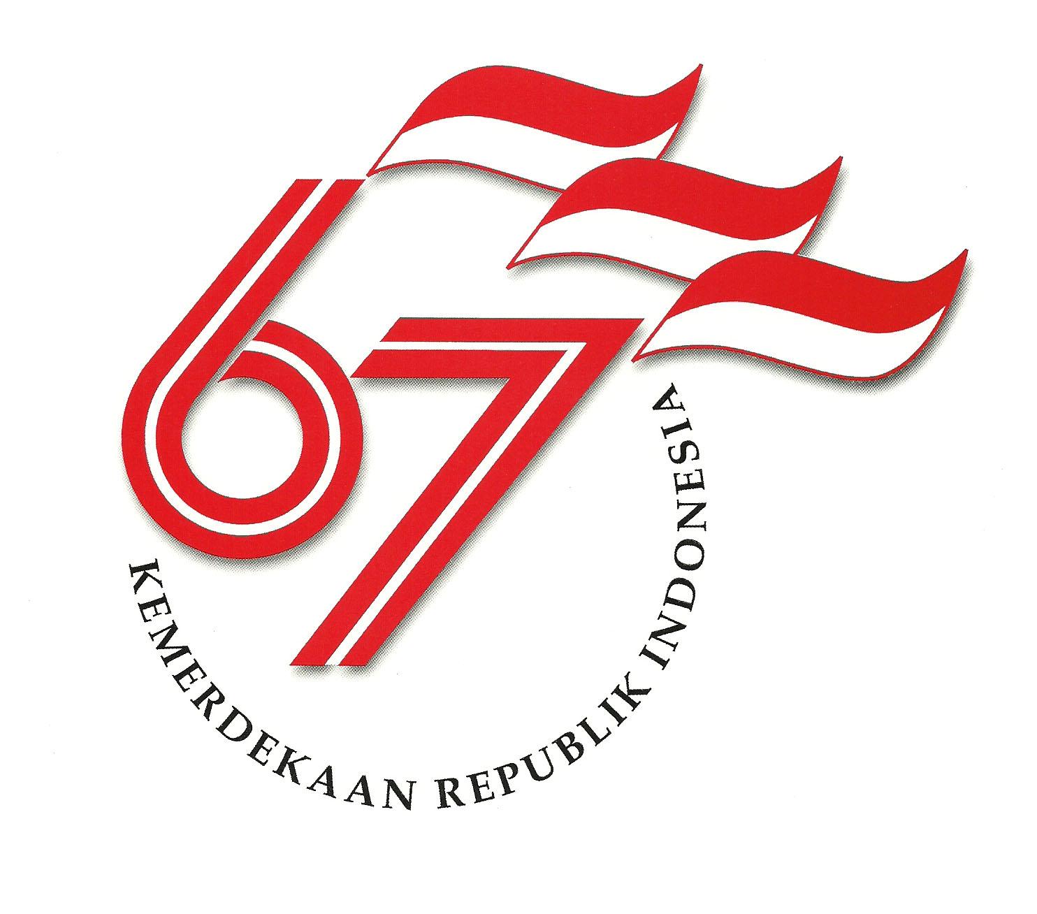Logo Peringatan HUT Republik Indonesia ke-67 Tahun 2012 :