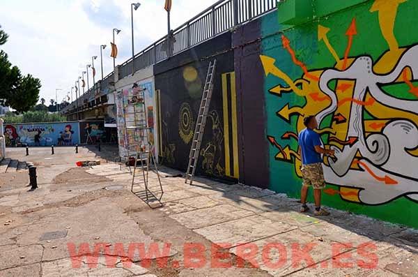 Graffitis exhibición hop festival San Adrián del Besós
