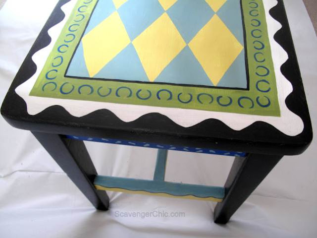 Folk Art Piano Bench - Scavenger Chic
