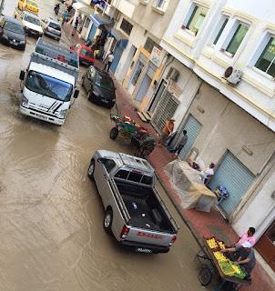 Pluie à Kelibia