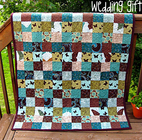 Quilt Patterns For Wedding Gifts : make me a quilt: 3rd time s a... wedding gift!