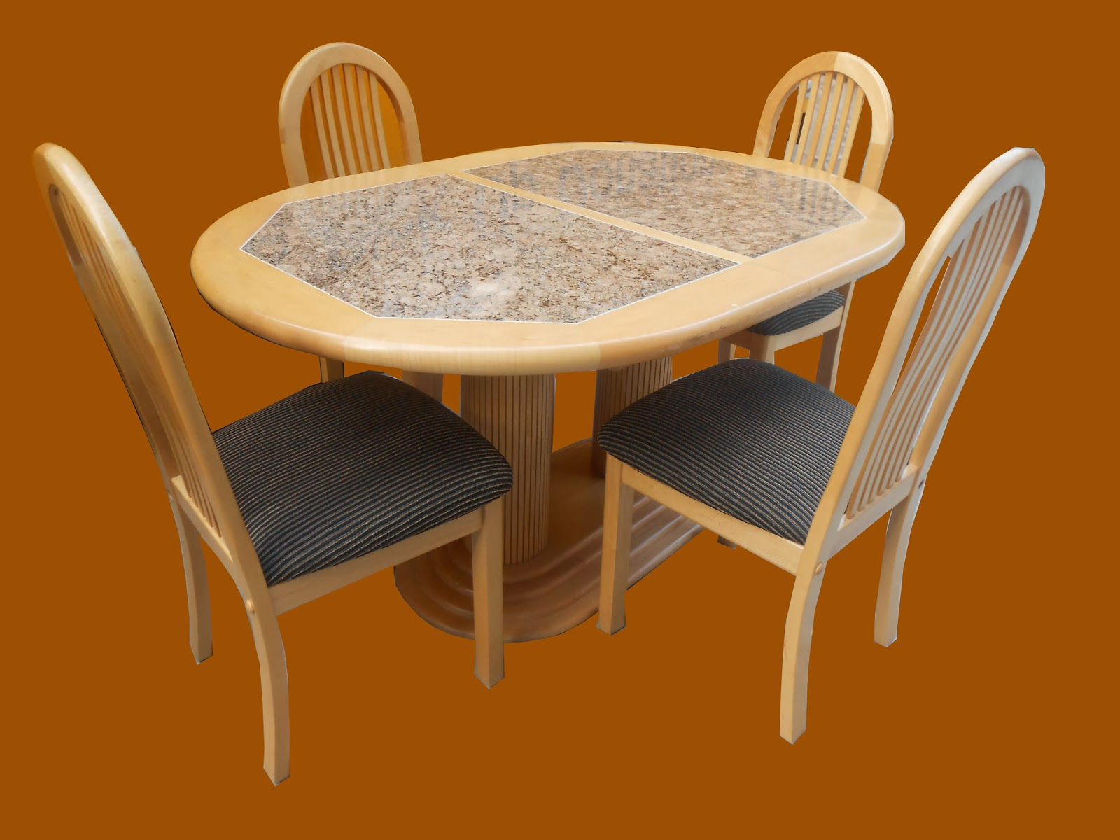 uhuru furniture collectibles round dining table with 4 chairs