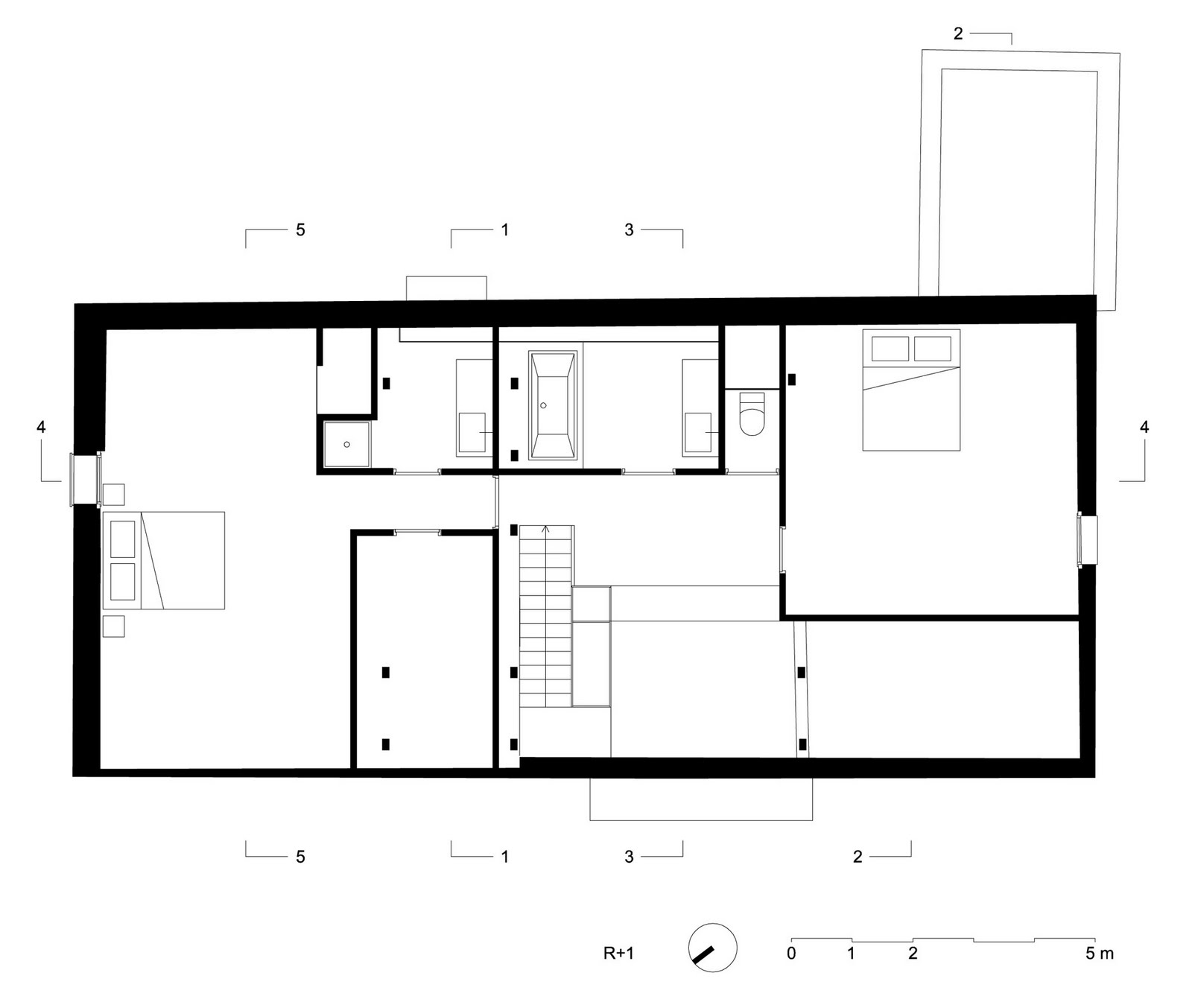 House nsv by adn architectures olivier dubucq for Plan architecte