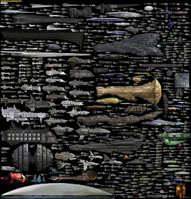 [Almost] Every Sci-Fi Starship - Comparison Chart