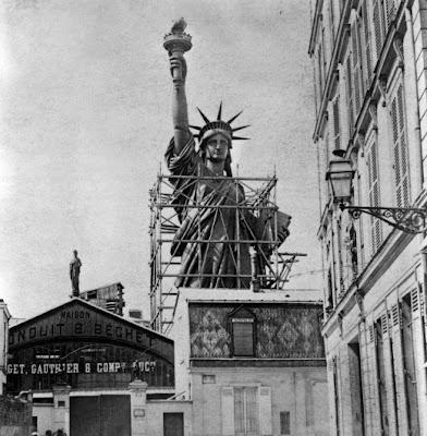 Fotografía antigua Estatua de la Libertad