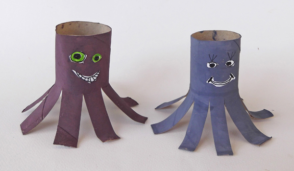 actopus craft, toilet paper roll crafts, toilet tissue paper roll, tube crafts, cardboard crafts