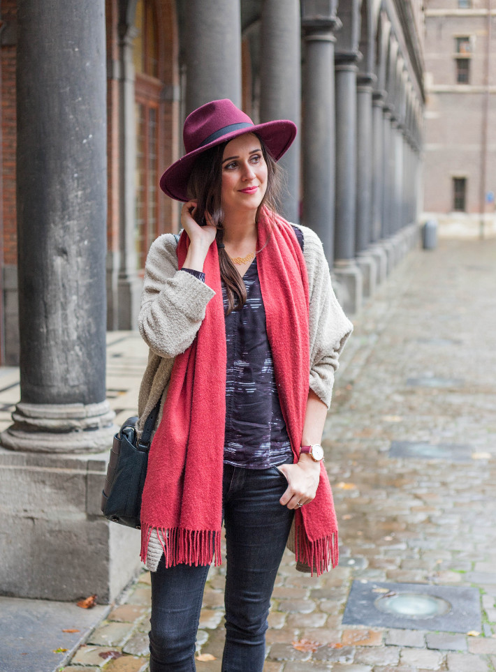 Outfit: winter boho in hat and layers