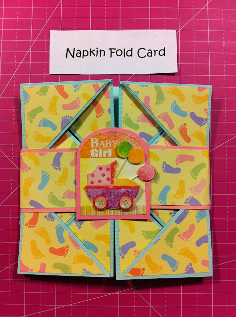 napkin-fold-card-baby-foot-steps-cute-girl