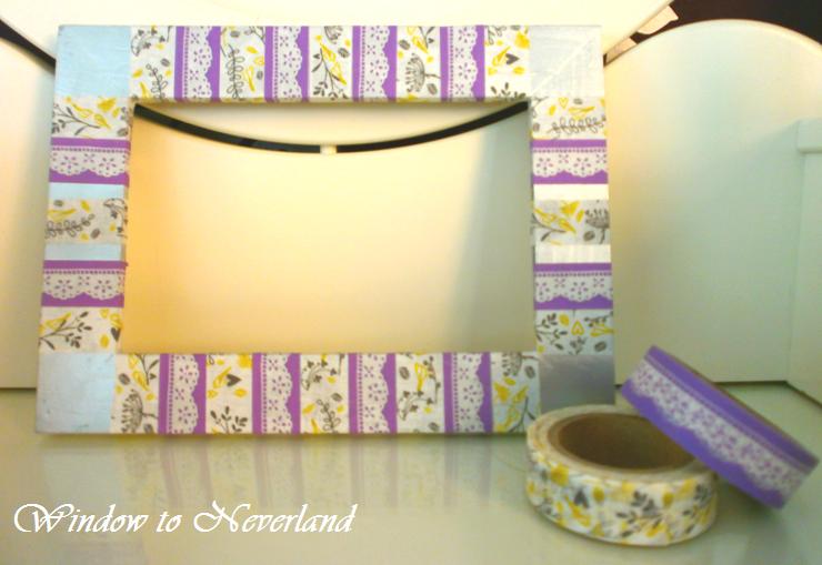 Window to neverland diy decorar portafotos con washi tape - Decorar con washi tape ...