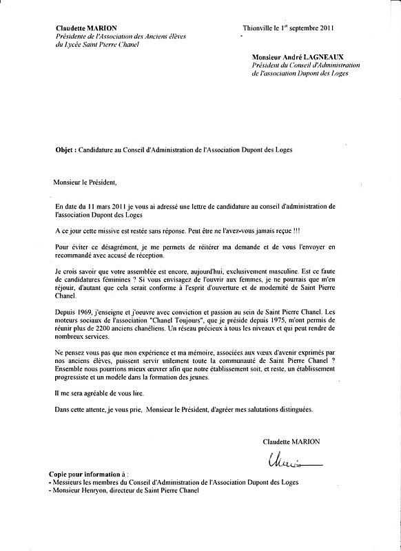 Chanel Toujours : Anciens élèves de SPC: Réponse du Conseil d