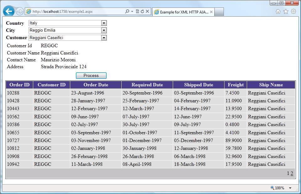 Implementing XML HTTP AJAX with JSON in ASP NET (Cascading Dropdown