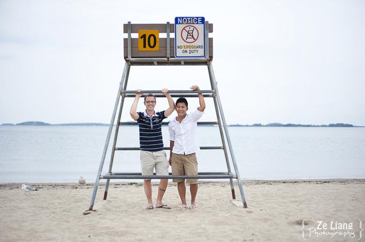 same-sex engagement session castle island boston ben&justin 01