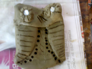 Clay Owl made by kids