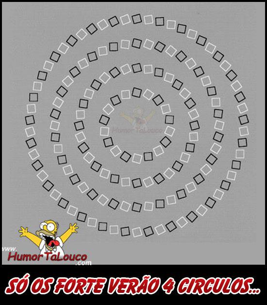 ilusão de ótica: Só os fortes verão 4 círculos...