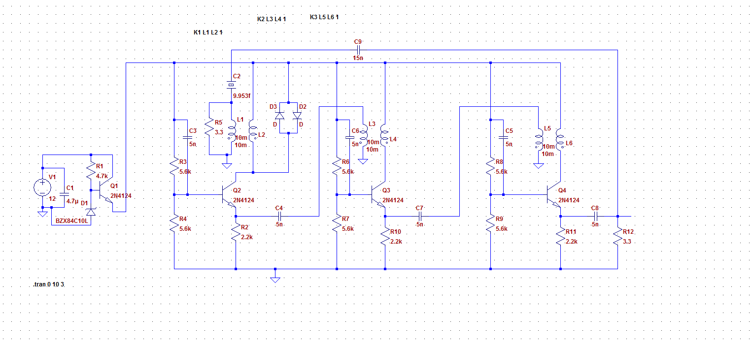 Getting More Oscillator Questions Common Base Amplifiers Sams Circuit Is Placed In The To Ground Let Sink While I Work Through Some Of Basics At Far Left A Poor Mans Voltage Regulator Using Zener Original Actually