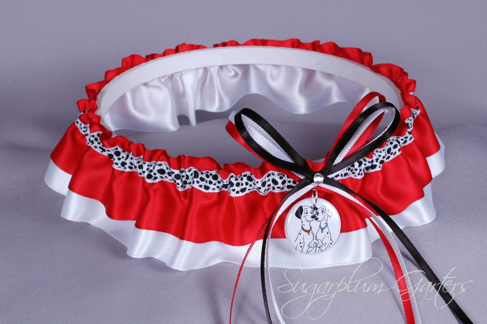 101 Dalmatians Inspired Custom Wedding Garter by Sugarplum Garters