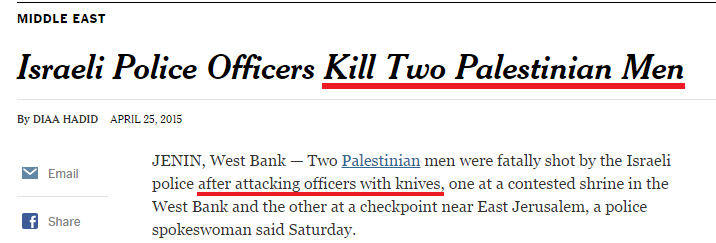 NYT and WSJ headline bias, and the underlying anti-Arab racism of ...