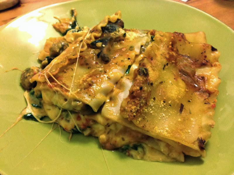 World Traveler Recipes: Vegetarian Spinach and Mushroom Lasagna
