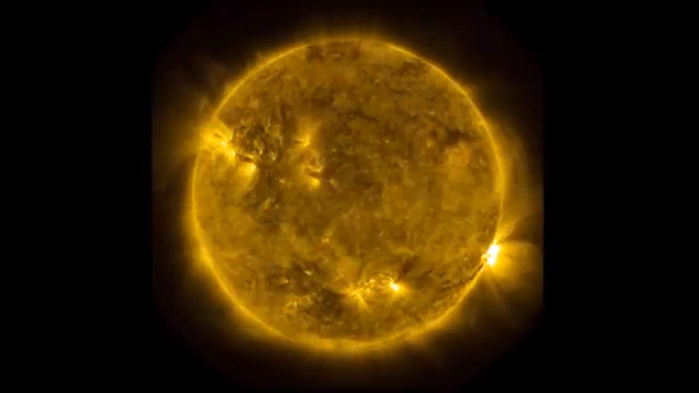 nuncalosabre. NASA Time-Lapse de 3 años de actividad solar en 3 minutos.