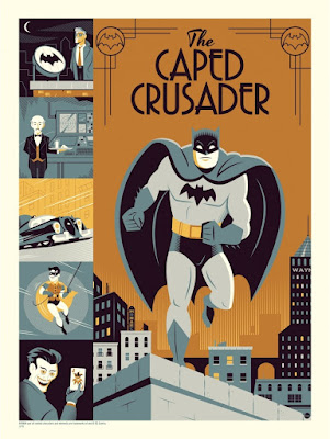 "Batman 75th Anniversary ""The Caped Crusader"" Metallic Variant Screen Print by Dave Perillo"