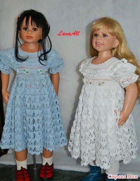 Страна мам платье на девочку крючком