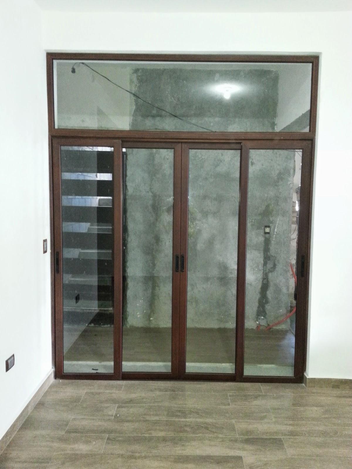 Persianas Aluminio Y Vidrio Puerta A 4 Hojas En Aluminio