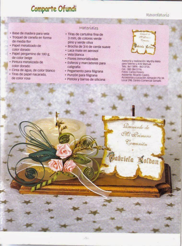 Como hacer tarjetas para primera comuni n y bautizo - Como hacer tarjetas de comunion ...