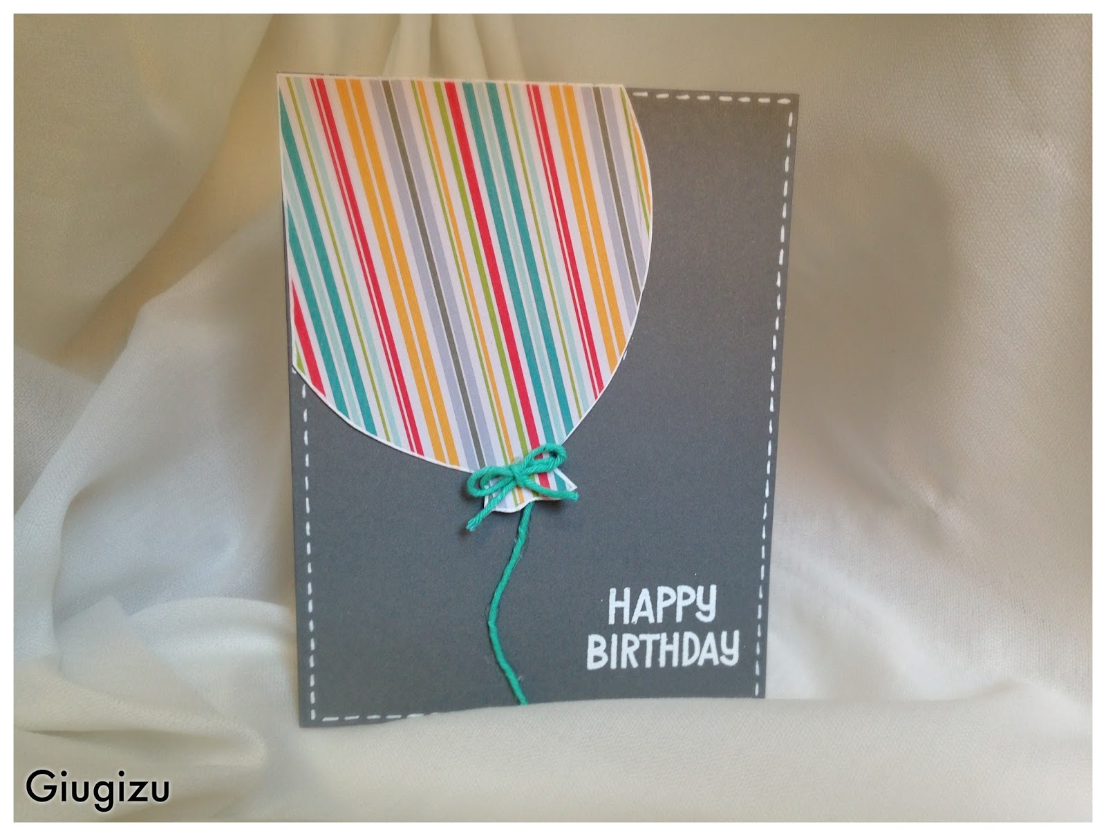 Amato Giugizu's corner: Handmade Flying Balloon birthday card  DR73