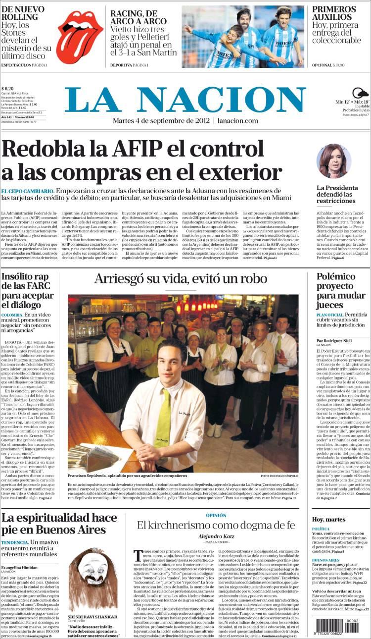 La nacion periodico argentina hd 1080p 4k foto for Chimentos de hoy en argentina