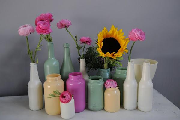 cam şişe vazo
