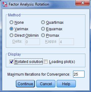 factor varimax
