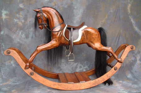 how to build a wooden rocking horse