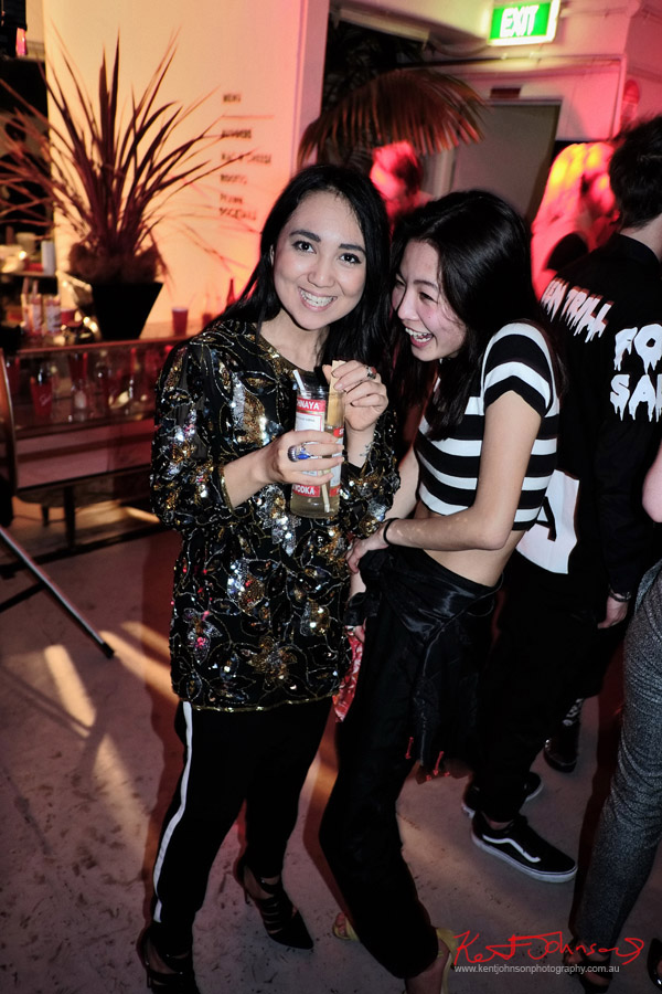 Two cute asian girls partying, ORGNL.TV - Stolichnaya Vodka, Sydney Launch Party